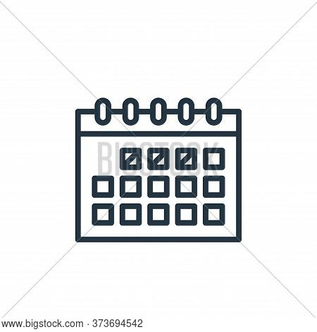 calendar icon isolated on white background from education collection. calendar icon trendy and moder