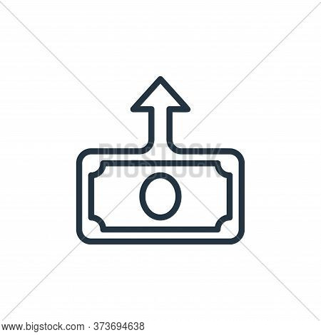 deposit icon isolated on white background from money collection. deposit icon trendy and modern depo