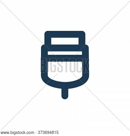 Usb Connector Vector Icon From User Interface Collection Isolated On White Background