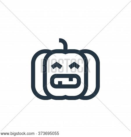 pumpkin icon isolated on white background from united states of america collection. pumpkin icon tre