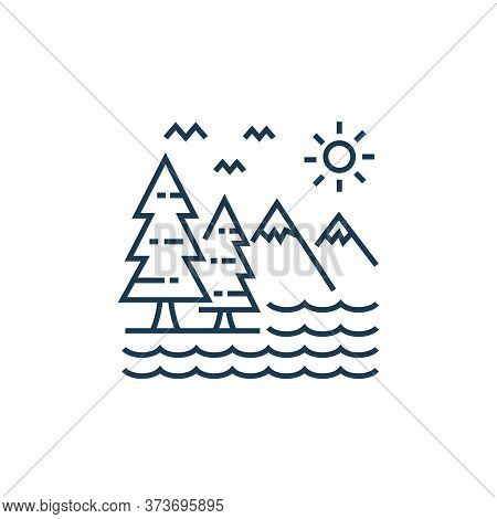 mountains icon isolated on white background from tourism collection. mountains icon trendy and moder