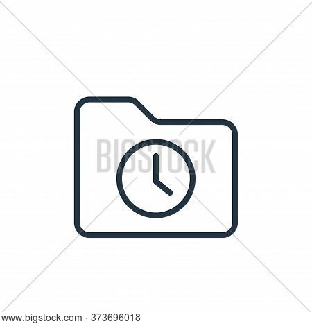 clock icon isolated on white background from folder collection. clock icon trendy and modern clock s