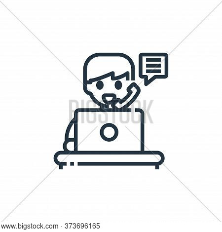 teleworking icon isolated on white background from working from home collection. teleworking icon tr