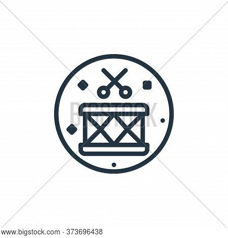 drum icon isolated on white background from music and sound collection. drum icon trendy and modern