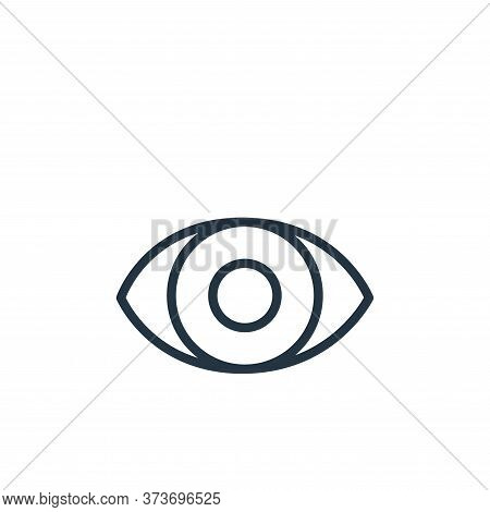 eye icon isolated on white background from health and protection collection. eye icon trendy and mod