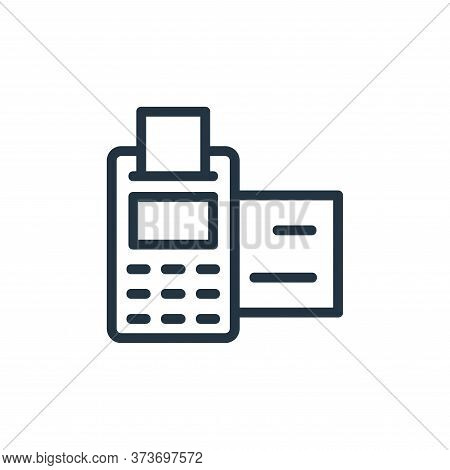 pos terminal icon isolated on white background from banking and finance flat icons collection. pos t
