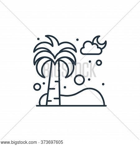 palm tree icon isolated on white background from islam and ramadan collection. palm tree icon trendy