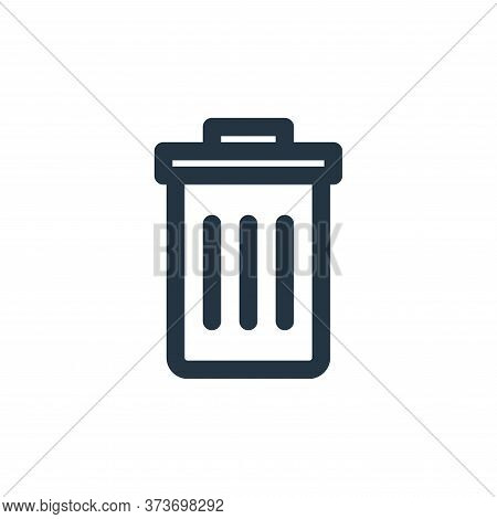 Trash Bin Vector Icon From Multimedia Collection Isolated On White Background
