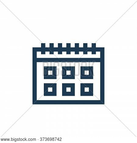 calendar icon isolated on white background from marketing and growth collection. calendar icon trend