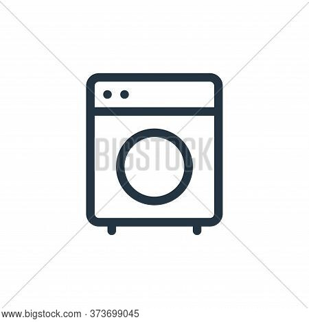 washing machine icon isolated on white background from electronics collection. washing machine icon