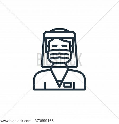 male nurse icon isolated on white background from virus transmission collection. male nurse icon tre