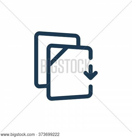 download file icon isolated on white background from file and archive collection. download file icon