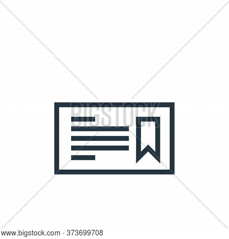 certificate icon isolated on white background from education collection. certificate icon trendy and