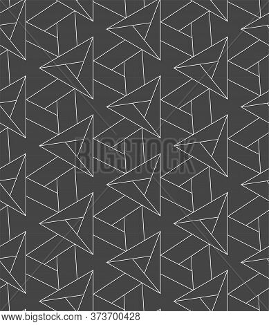 Repetitive Vintage Graphic Triangle, Repeat Texture. Repeat Tileable Vector Luxury Tile Pattern. Con