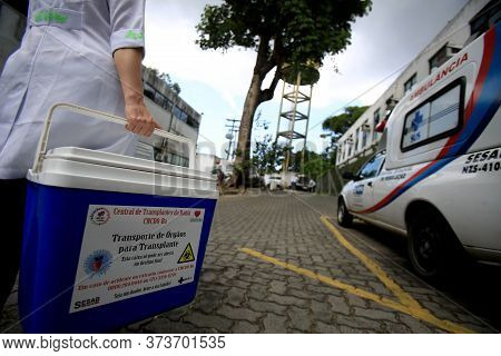 Salvador, Bahia / Brazil - September 21, 2016: Special Box For Transporting Human Organs For Transpl