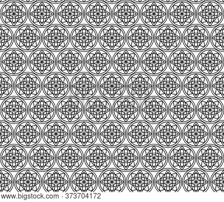 Illusion Circular Radius Seamless Pattern, Good For Use As A Paper Gift Wrap, Fabric Or Cloth Patter