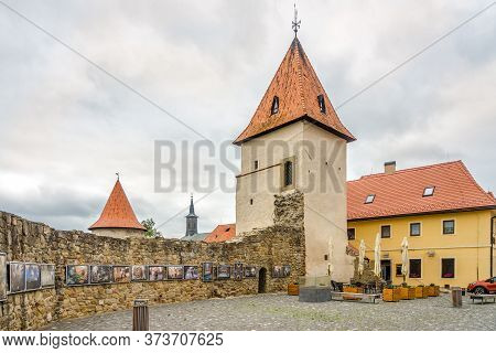 Bardejov,slovakia - June 9,2020 - View At The Dusty Bastion In Bardejov. Bardejov Is A Town In North