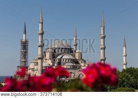 Sultanahmet Blue Mosque In Sultanahmet, Istanbul City, Turkey