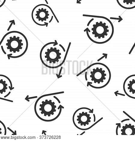 Agile Icon In Flat Style. Flexible Vector Illustration On White Isolated Background. Arrow Cycle Sea