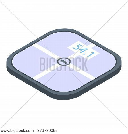 Active Smart Scales Icon. Isometric Of Active Smart Scales Vector Icon For Web Design Isolated On Wh
