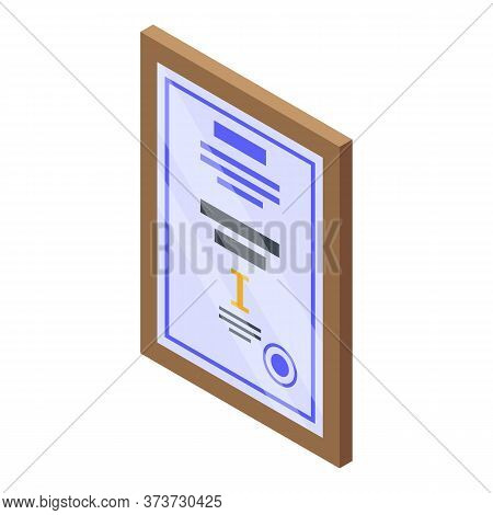 Bank Diploma Icon. Isometric Of Bank Diploma Vector Icon For Web Design Isolated On White Background