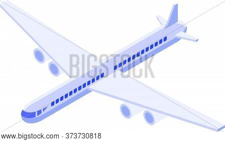 Immigrants Airplane Icon. Isometric Of Immigrants Airplane Vector Icon For Web Design Isolated On Wh