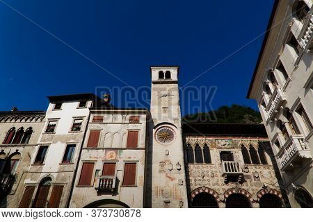 Italy, Vittorio Veneto, Serravalle Neighborhood. The Village Of Serravalle Has Very Ancient Origins