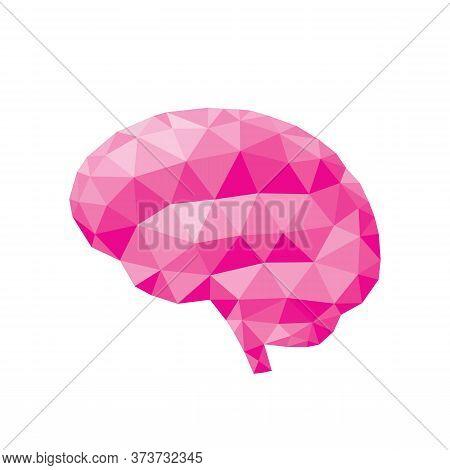 Human Brain - Polygonal Graphic Design Vector Illustration. Creative Idea Inspiration. Intuition Int
