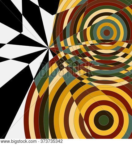 Background Abstract Ornament Circles Black And Orange