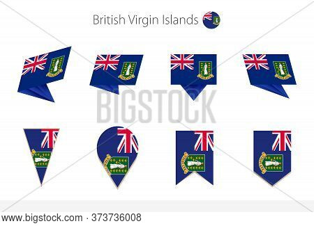 British Virgin Islands National Flag Collection, Eight Versions Of British Virgin Islands Vector Fla