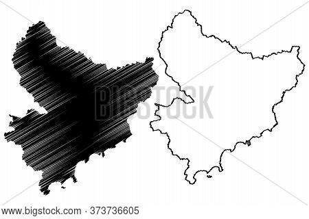 Alpes-maritimes Department (france, French Republic, Provence-alpes-cote Dazur Region) Map Vector Il
