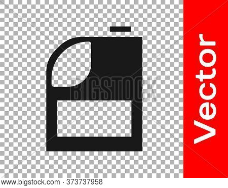 Black Canister For Motor Machine Oil Icon Isolated On Transparent Background. Oil Gallon. Oil Change