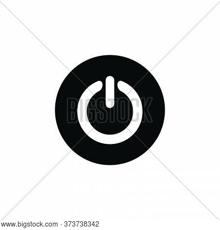 Power Button Icon Isolated On White Background. Power Button Icon Modern Symbol For Graphic And Web