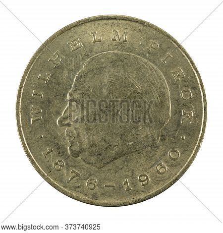 Historic 20 East German Mark Coin Special Edition(1972) Obverse Isolated On White Background