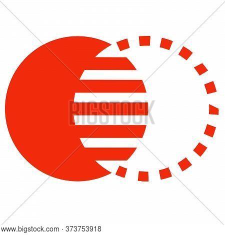 Illustration Creative Circle Or Round Art Logo Design. Pictorial Mark Type Logo Design