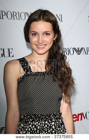 BEVERLY HILLS - SEP 27:  Maude Apatow at the Teen Vogue's 10th Anniversary Annual Young Hollywood Party on September 27, 2012 in Beverly Hills, California