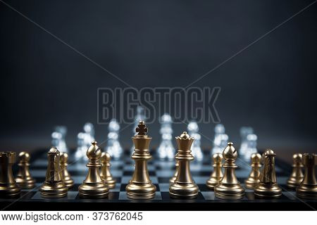 Chess Team On Chess Board Concept Of Business Strategic Plan And Professional Teamwork And Managemen