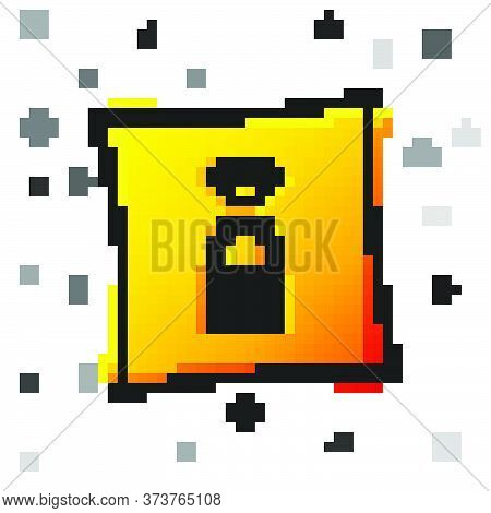 Black Smart Safe Combination Lock Icon Isolated On White Background. Combination Padlock. Security,