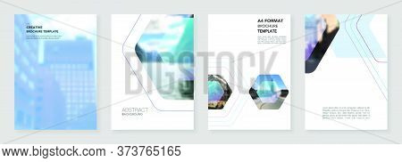 A4 Brochure Layout Of Covers Templates For Flyer Leaflet, A4 Format Brochure Design, Report, Present