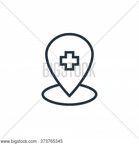 location icon isolated on white background from hospital collection. location icon trendy and modern
