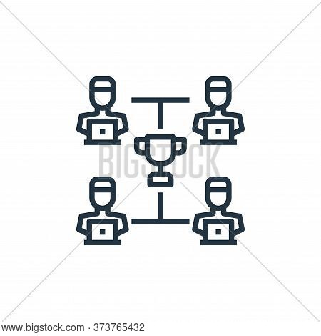 teamwork icon isolated on white background from work from home collection. teamwork icon trendy and