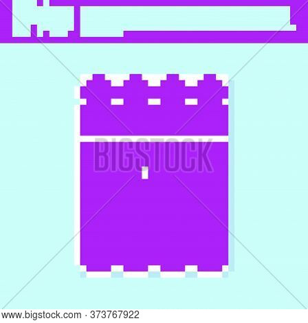 Retro Purple Detonate Dynamite Bomb Stick And Timer Clock Icon Isolated On Turquoise Background. Tim