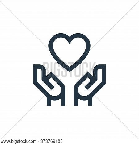 love icon isolated on white background from mental health collection. love icon trendy and modern lo