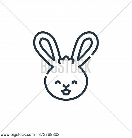 rabbit icon isolated on white background from pets collection. rabbit icon trendy and modern rabbit