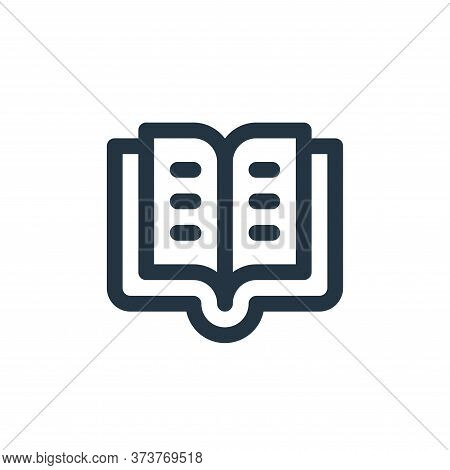 book icon isolated on white background from user interface collection. book icon trendy and modern b