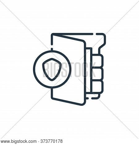 protected icon isolated on white background from database and servers collection. protected icon tre