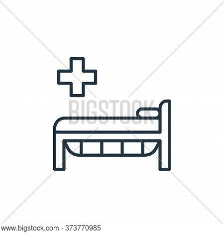 hospital bed icon isolated on white background from coronavirus disease collection. hospital bed ico