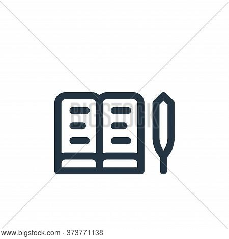 book icon isolated on white background from europe collection. book icon trendy and modern book symb
