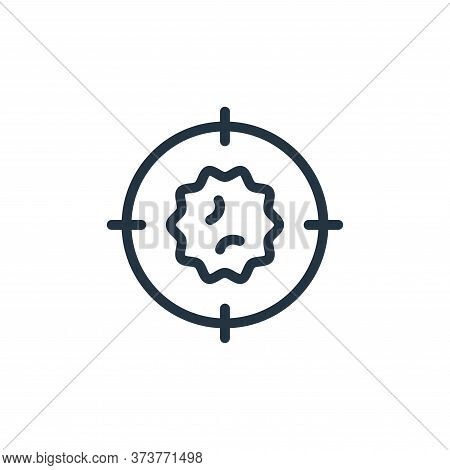 target icon isolated on white background from coronavirus collection. target icon trendy and modern