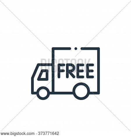 free delivery icon isolated on white background from online shopping collection. free delivery icon